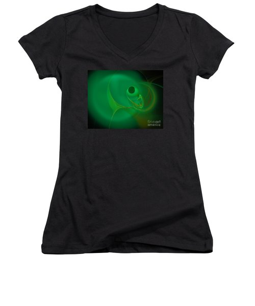 Eye Of The Fish Women's V-Neck T-Shirt (Junior Cut) by Victoria Harrington