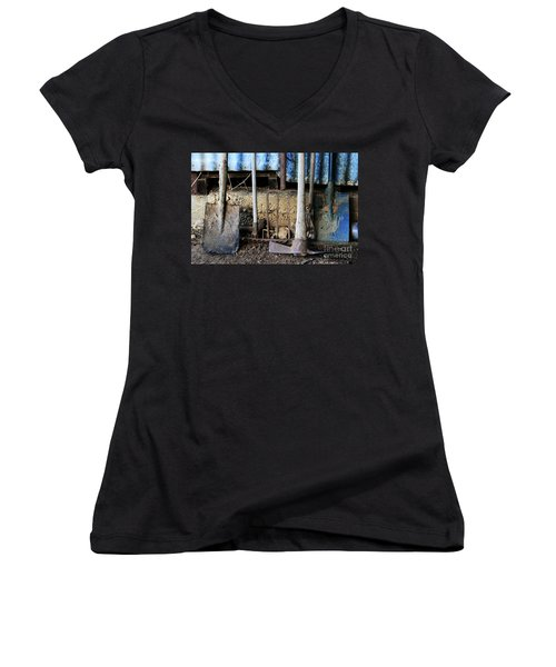 Farm Tool Women's V-Neck (Athletic Fit)