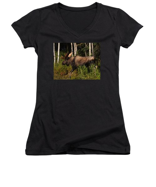 Women's V-Neck T-Shirt (Junior Cut) featuring the photograph Fast Mover by Doug Lloyd