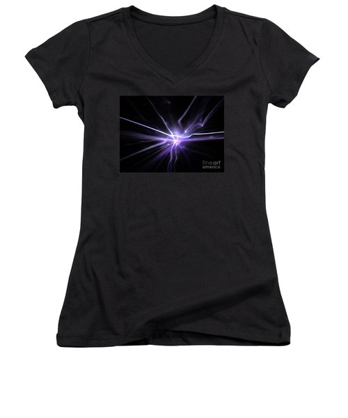 Women's V-Neck T-Shirt (Junior Cut) featuring the digital art Firefly by Kim Sy Ok