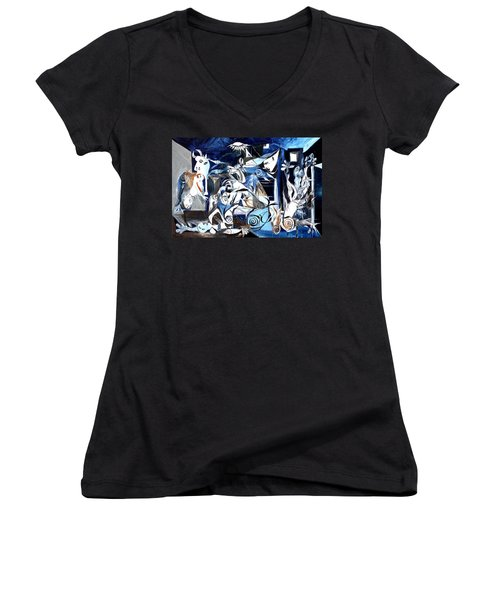 Fish Guernica Women's V-Neck