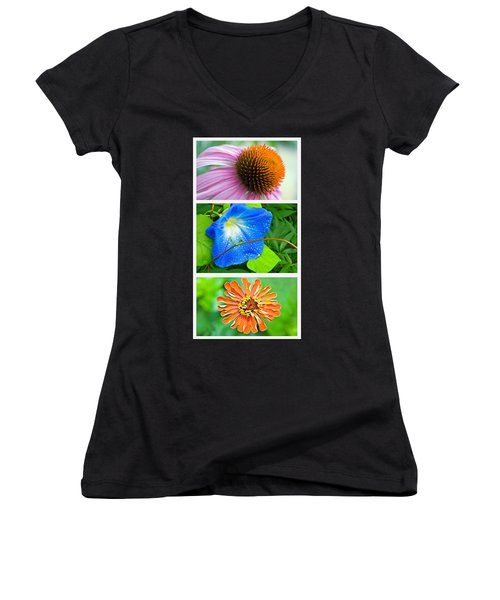 Flower Collage Part Two Women's V-Neck