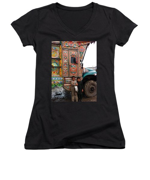 Friends - Take Me For A Ride In Your Jingly Truck Women's V-Neck (Athletic Fit)