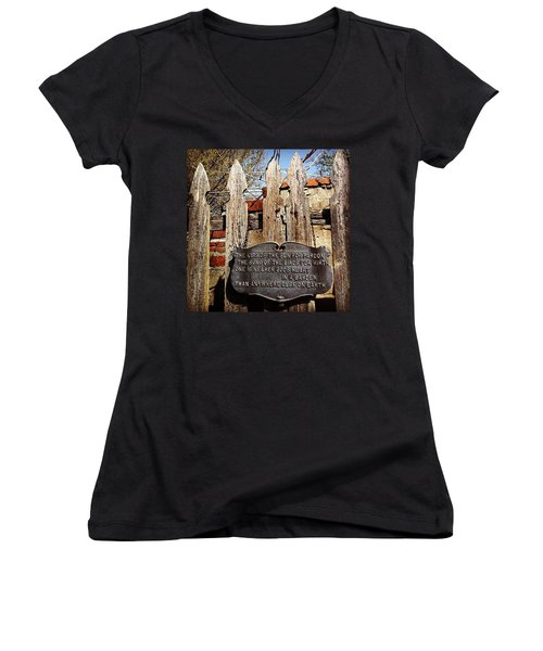 Garden In Philadelphia Women's V-Neck