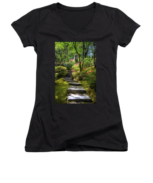 Garden Path Women's V-Neck (Athletic Fit)