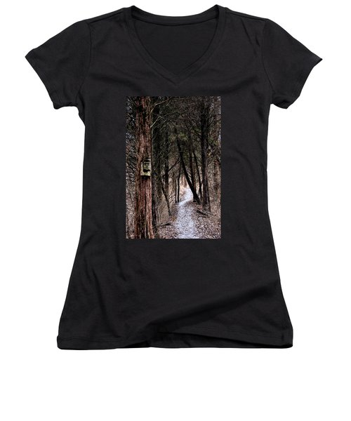 Gently Into The Forest My Friend Women's V-Neck (Athletic Fit)