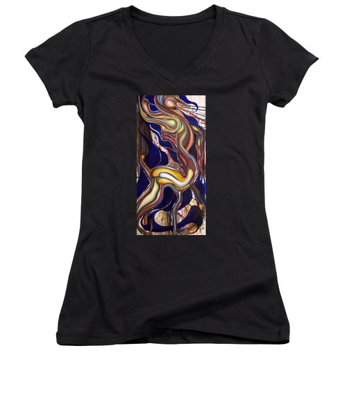 Ghost Horse And Still Born Women's V-Neck T-Shirt (Junior Cut) by Sheridan Furrer
