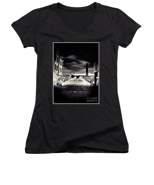 Ghosts In The City Women's V-Neck