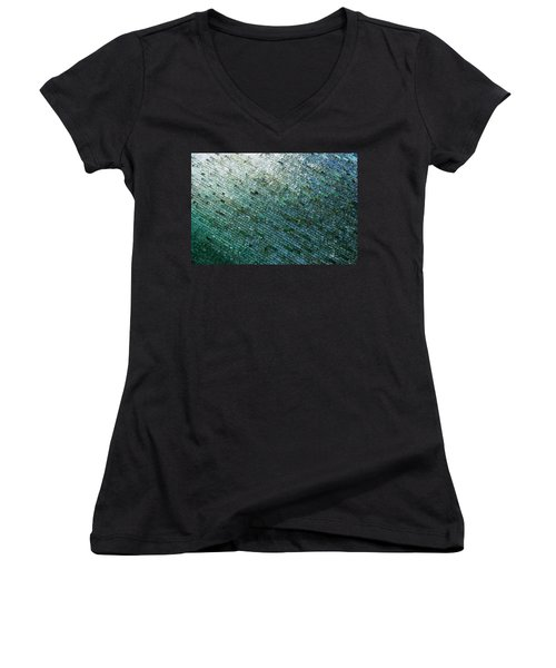 Glass Strata Women's V-Neck T-Shirt (Junior Cut) by Charlie and Norma Brock