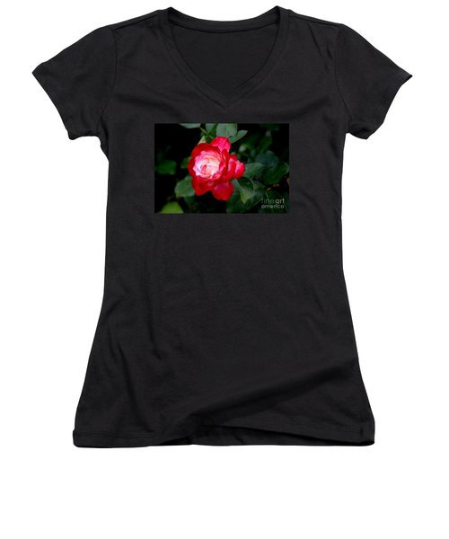 Glowing Women's V-Neck T-Shirt (Junior Cut) by Living Color Photography Lorraine Lynch
