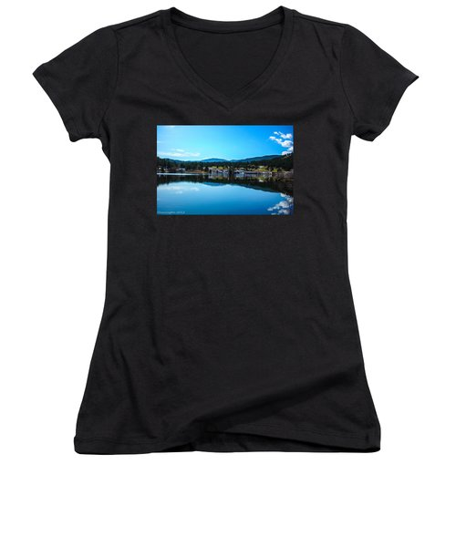 Women's V-Neck T-Shirt (Junior Cut) featuring the photograph Golf Course by Shannon Harrington