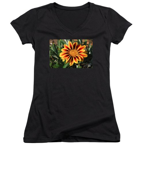 Women's V-Neck T-Shirt (Junior Cut) featuring the photograph Gorgeous Beauty by Fotosas Photography