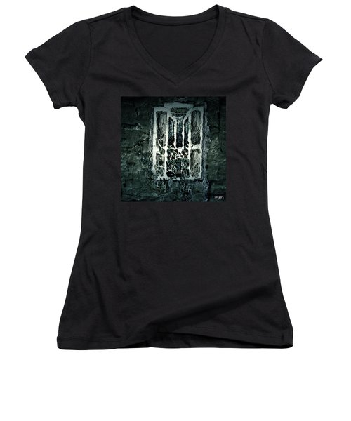 Gothic Window Women's V-Neck T-Shirt