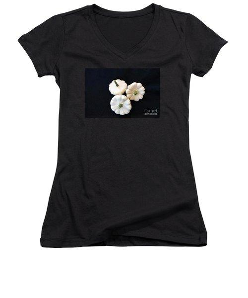 Women's V-Neck T-Shirt (Junior Cut) featuring the photograph Gourds 10 by Deniece Platt