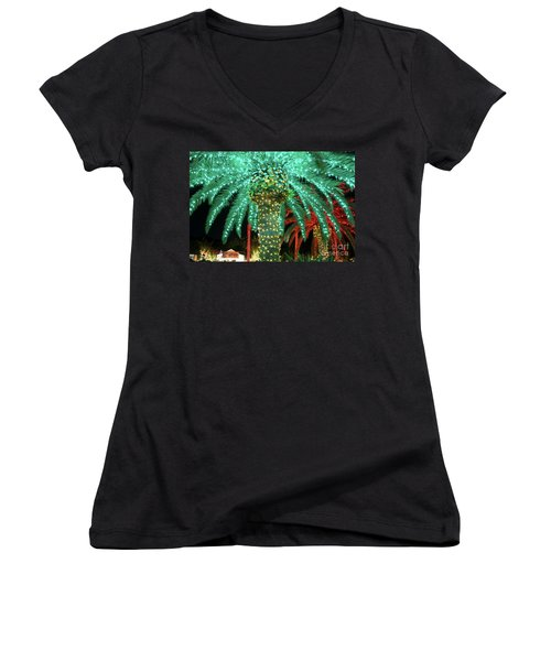 Green Palms Women's V-Neck (Athletic Fit)