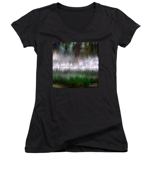 Growing Wild Women's V-Neck (Athletic Fit)