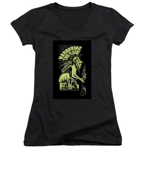 Harboring This Plague Women's V-Neck T-Shirt (Junior Cut) by Tony Koehl