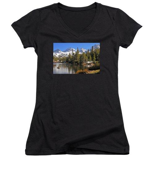 Women's V-Neck T-Shirt (Junior Cut) featuring the photograph Hidden Jewel by Lynn Bauer
