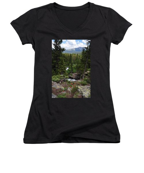 Hiking In Colorado Women's V-Neck T-Shirt
