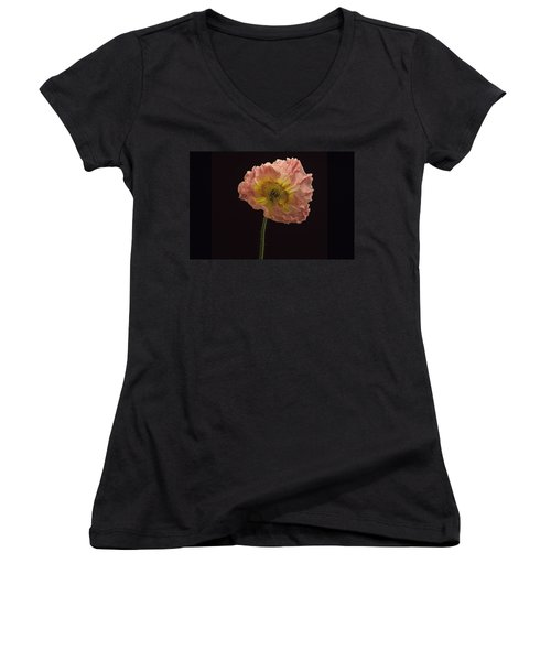 Iceland Poppy 3 Women's V-Neck (Athletic Fit)