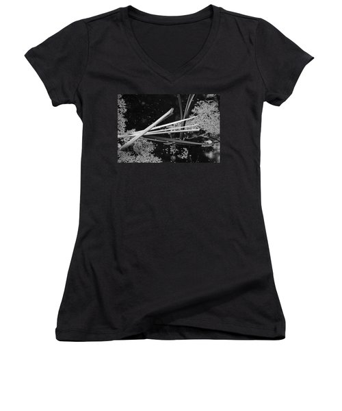 In The Pond Asian Influence Women's V-Neck (Athletic Fit)