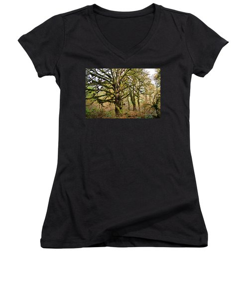 In The Rain Forest Women's V-Neck (Athletic Fit)