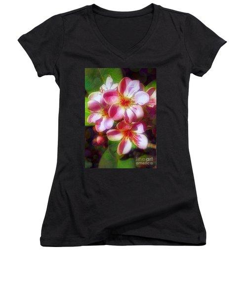India Hawthorne Women's V-Neck T-Shirt (Junior Cut) by Judi Bagwell
