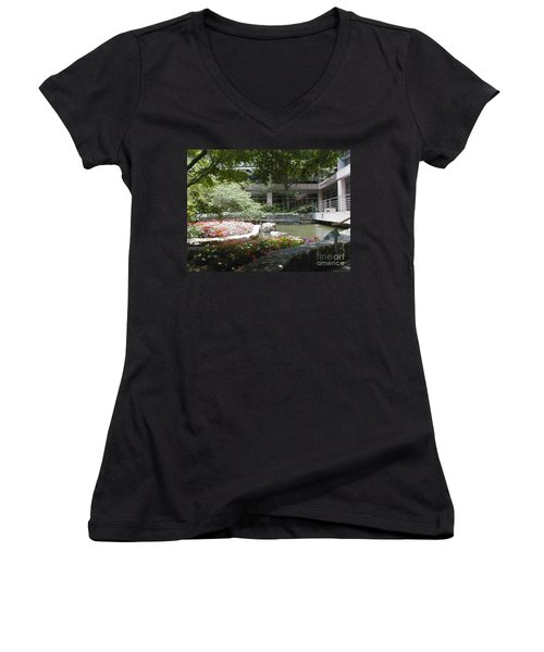 Inner Courtyard Women's V-Neck T-Shirt