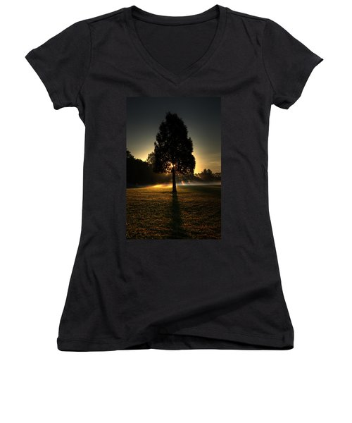 Inspirational Tree Women's V-Neck (Athletic Fit)
