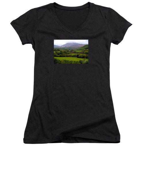 Irish Countryside II Women's V-Neck T-Shirt
