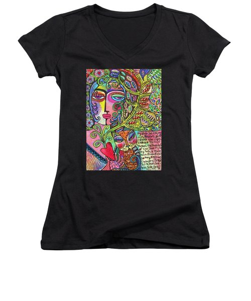 Journey Of The Heart Women's V-Neck T-Shirt