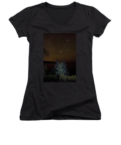 Jupiter  Over Otter Point 3 Women's V-Neck