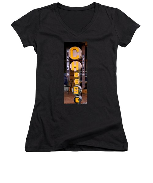 Just Say Cheese Women's V-Neck (Athletic Fit)