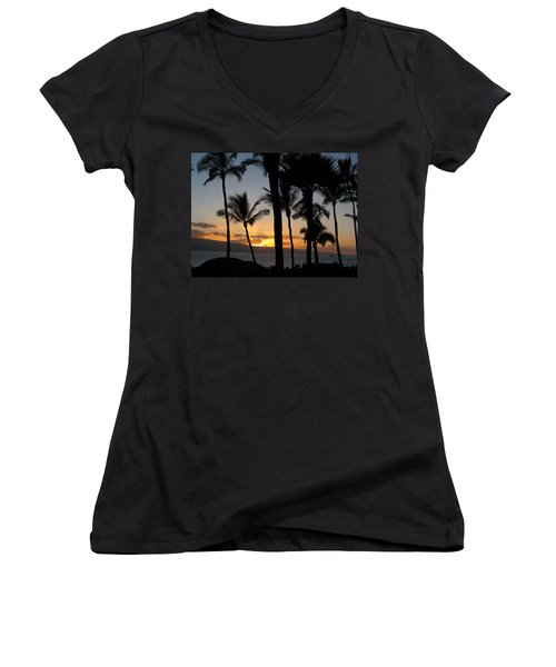 Ka'anapali Sunset Women's V-Neck (Athletic Fit)