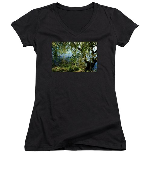 Lakeside Tree Women's V-Neck (Athletic Fit)