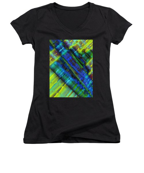 Women's V-Neck T-Shirt (Junior Cut) featuring the photograph Layers Of Blue by David Pantuso