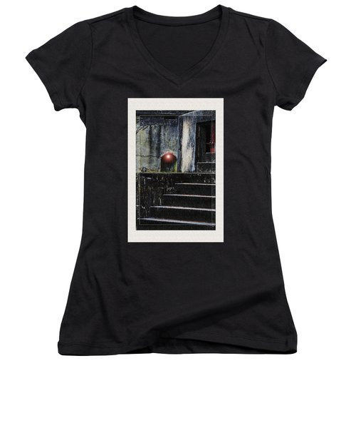 Leave The Light On Women's V-Neck (Athletic Fit)