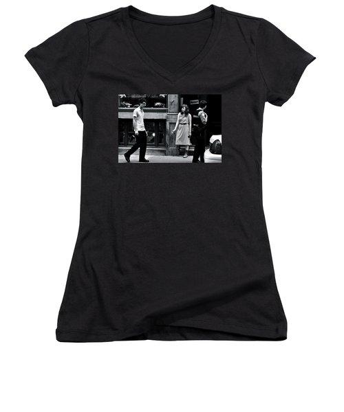 L'ennui  Women's V-Neck T-Shirt (Junior Cut) by Valerie Rosen