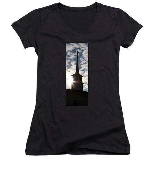 Light Women's V-Neck T-Shirt (Junior Cut) by Kume Bryant