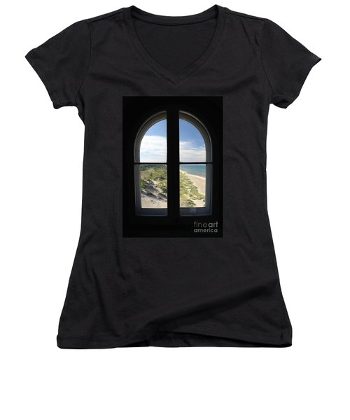 Lighthouse Window Women's V-Neck T-Shirt
