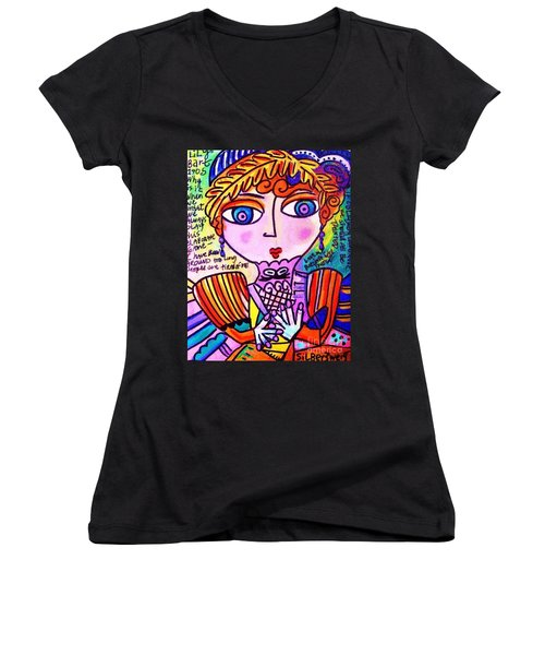 Lily Bart Women's V-Neck T-Shirt