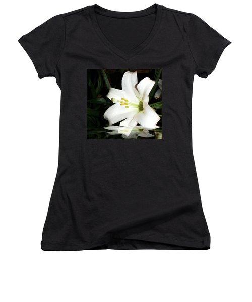 Lily Reflection Women's V-Neck T-Shirt