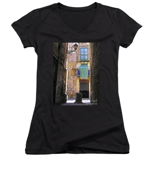 Little Street Of Palermo Women's V-Neck (Athletic Fit)
