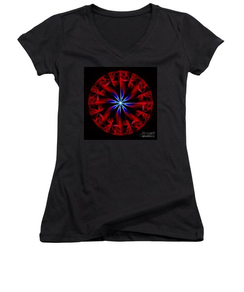 Lost Flames Women's V-Neck (Athletic Fit)