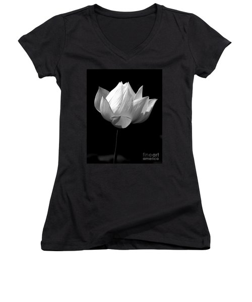 Lotus Bw Women's V-Neck (Athletic Fit)