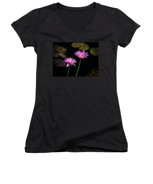 Lotus Water Lilies Women's V-Neck
