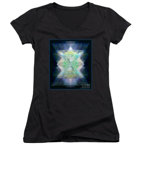 Love's Chalice From The Druid Tree Of Life Women's V-Neck (Athletic Fit)