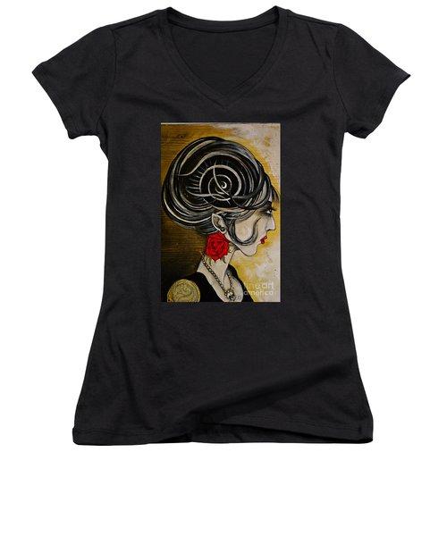 Madame D. Eternal's Dance Women's V-Neck T-Shirt