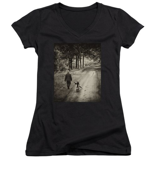 Man's Best Friend Women's V-Neck