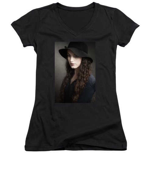 Melancholy Baby Women's V-Neck (Athletic Fit)
